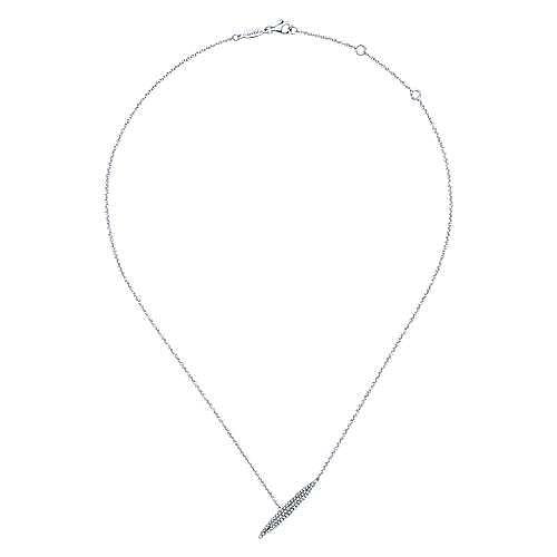 14k White Gold Indulgence Fashion Necklace angle 2