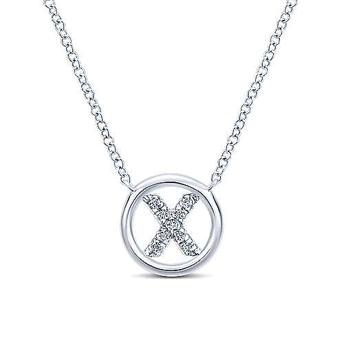 Gabriel - 14k White Gold Initial Necklace