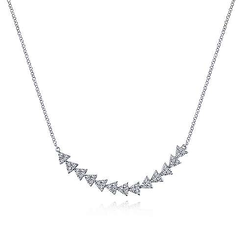 Gabriel - 14k White Gold Kaslique Bar Necklace