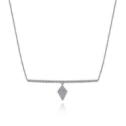 14k White Gold Kaslique Choker Necklace
