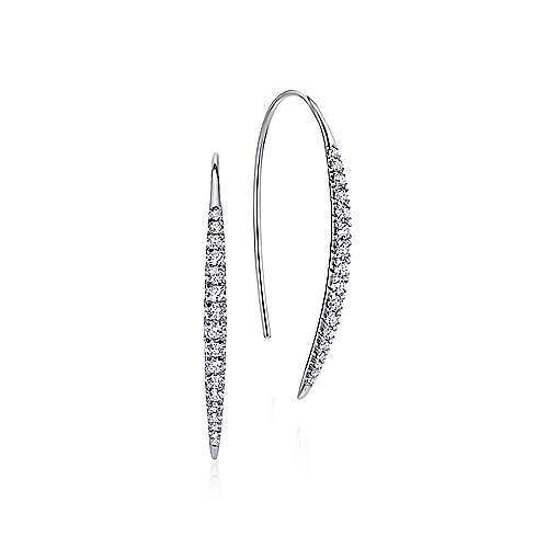 14k White Gold Kaslique Drop Earrings angle 1