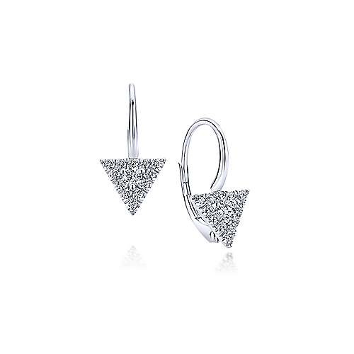 14k White Gold Kaslique Drop Earrings angle 1