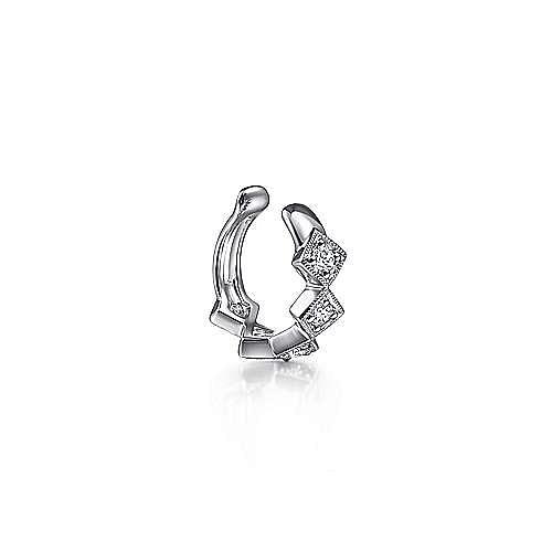 14k White Gold Kaslique Earcuffs Earrings angle 2