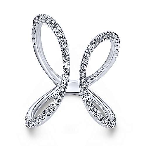 Gabriel - 14k White Gold Kaslique Fashion Ladies' Ring