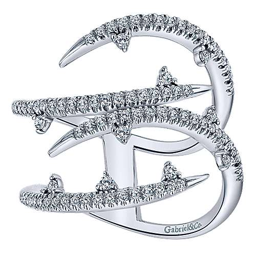 14k White Gold Kaslique Fashion Ladies' Ring angle 5
