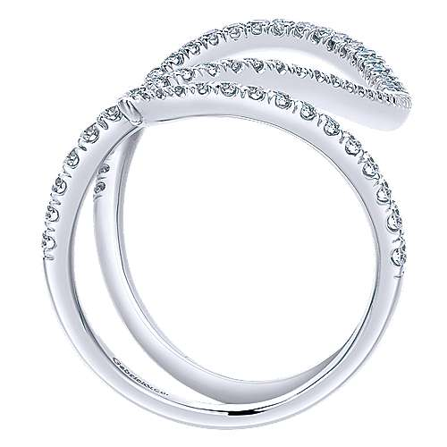 14k White Gold Kaslique Fashion Ladies' Ring angle 2