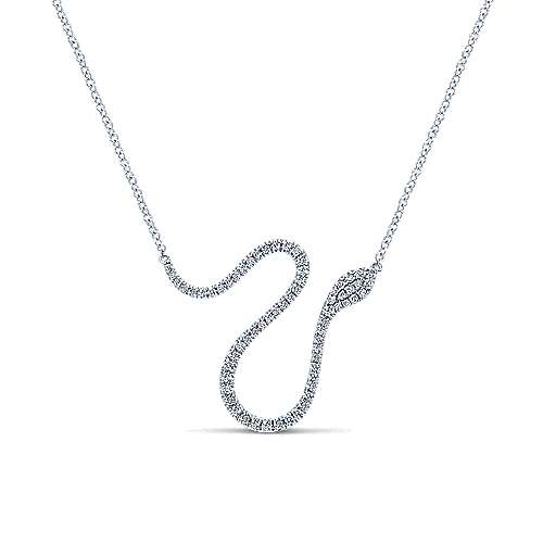 14k White Gold Kaslique Fashion Necklace