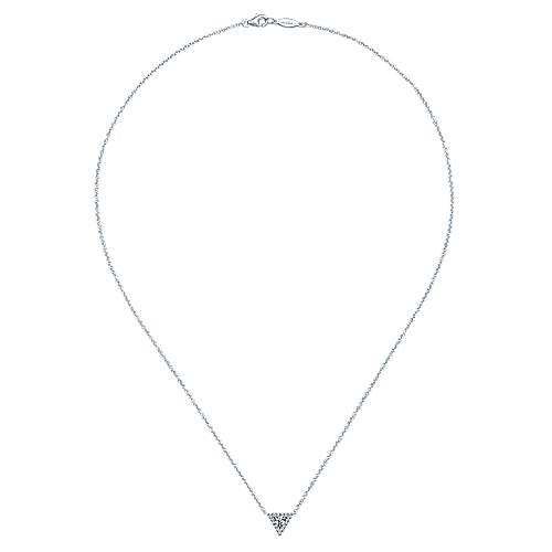 14k White Gold Kaslique Fashion Necklace angle 2