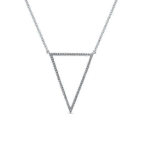 Gabriel - 14k White Gold Kaslique Fashion Necklace