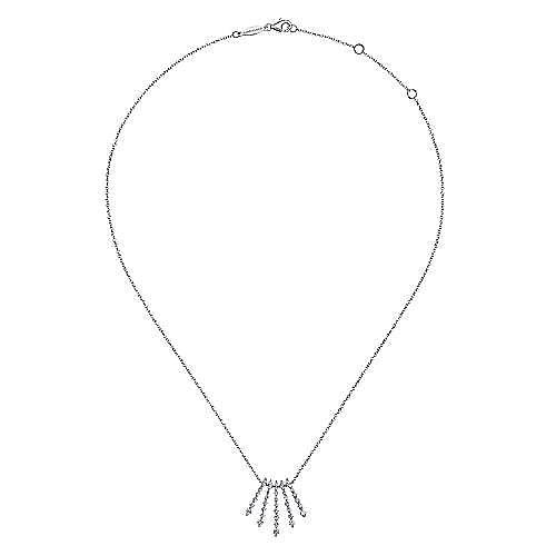 14k White Gold Kaslique Fashion Necklace angle 2