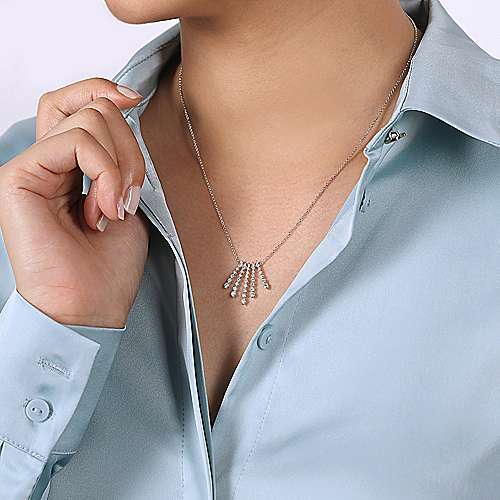 14k White Gold Kaslique Fashion Necklace angle 3