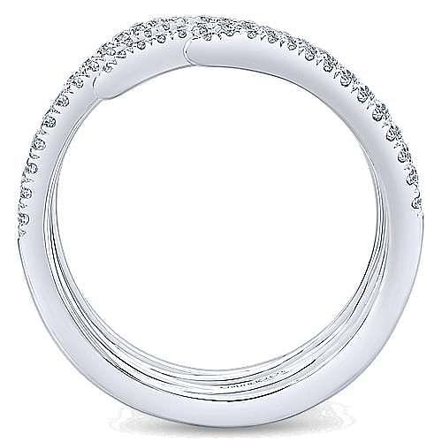 14k White Gold Kaslique Statement Ladies' Ring angle 2