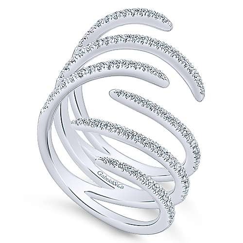14k White Gold Kaslique Statement Ladies' Ring angle 3