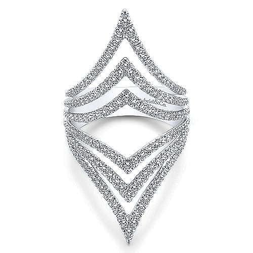 Gabriel - 14k White Gold Kaslique Statement Ladies' Ring