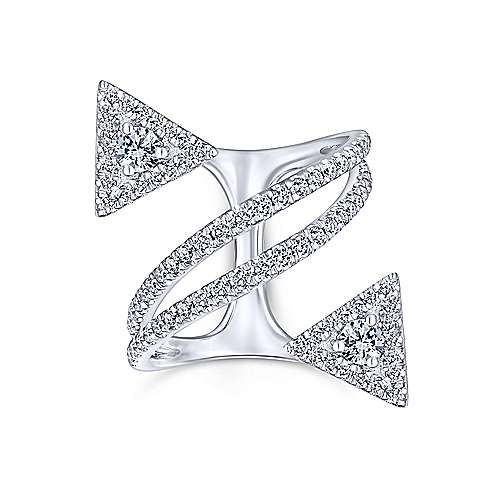 14k White Gold Kaslique Statement Ladies' Ring angle 4