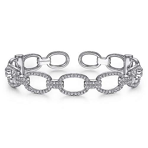 14k White Gold Lusso Bangle