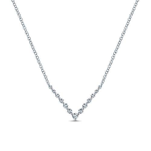 14k White Gold Lusso Bar Necklace