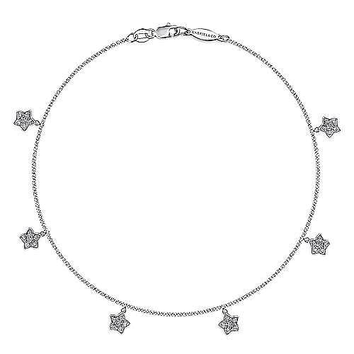 Gabriel - 14k White Gold Lusso Chain Ankle Bracelet