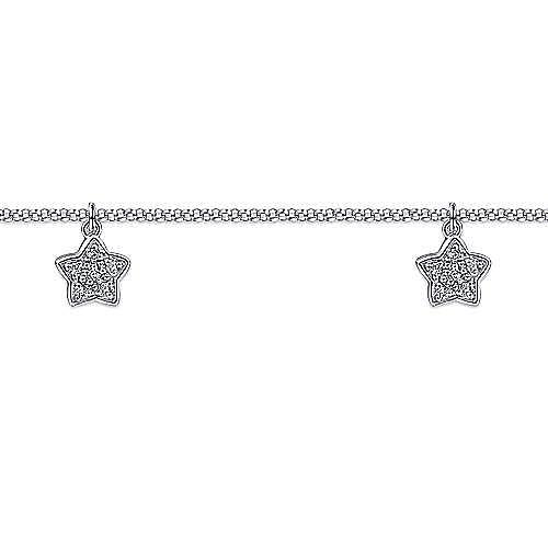 14k White Gold Lusso Chain Ankle Bracelet