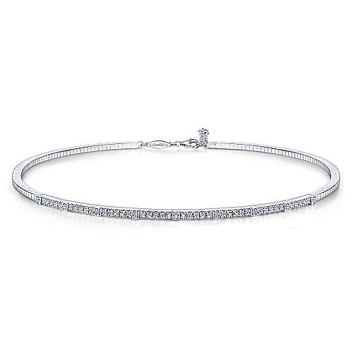 Gabriel - 14k White Gold Lusso Choker Necklace
