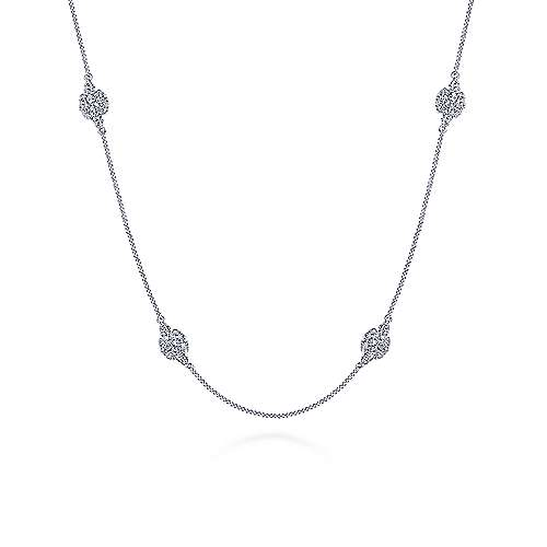 14k White Gold Lusso Choker Necklace