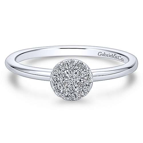 Gabriel - 14k White Gold Lusso Classic Ladies Ring