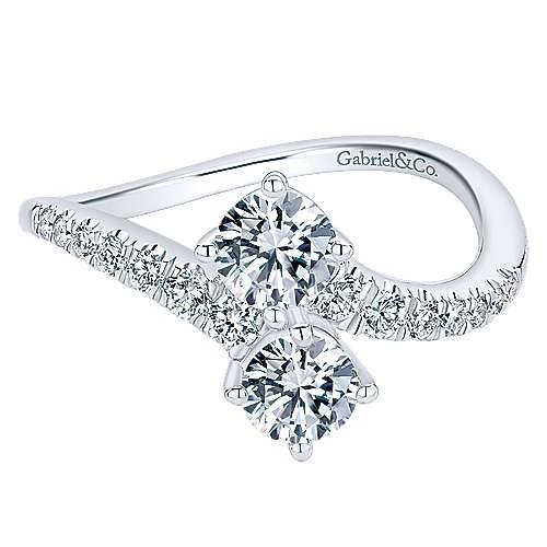 Gabriel - 14k White Gold Lusso Classic Ladies' Ring