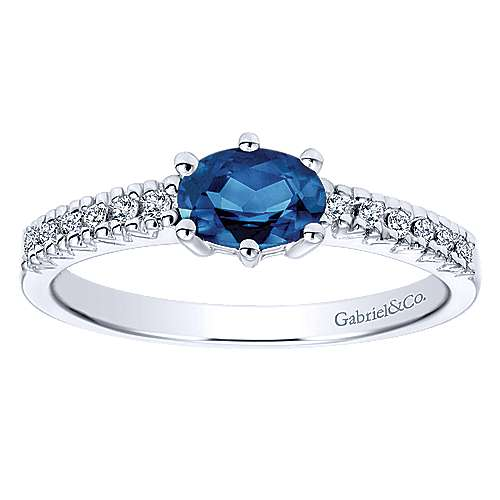 14k White Gold Lusso Color Classic Ladies' Ring angle 4