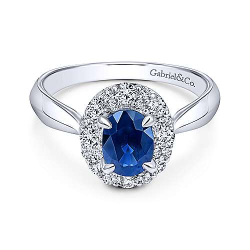 14k White Gold Lusso Color Classic Ladies' Ring angle 1