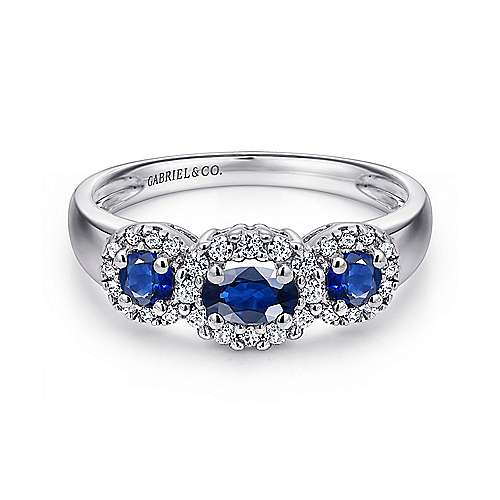 Gabriel - 14k White Gold Lusso Color Fashion Ladies' Ring