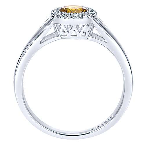 14k White Gold Lusso Color Fashion Ladies' Ring angle 2