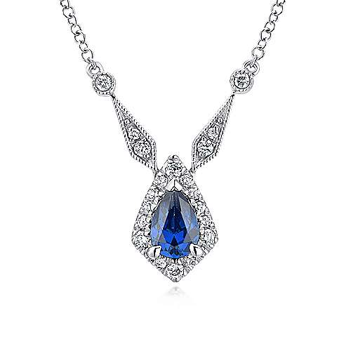 Gabriel - 14k White Gold Lusso Color Fashion Necklace