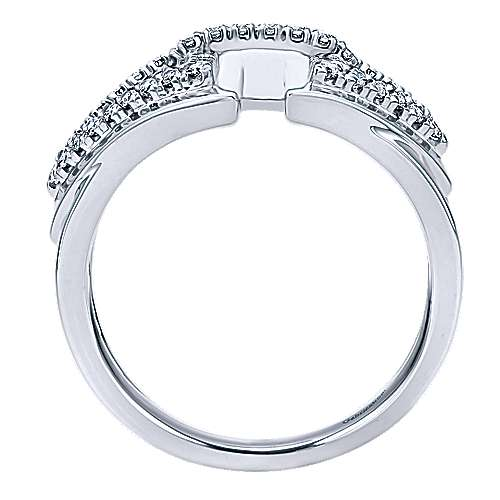 14k White Gold Lusso Diamond Fashion Ladies' Ring angle 2