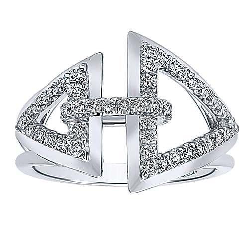 14k White Gold Lusso Diamond Fashion Ladies' Ring angle 5