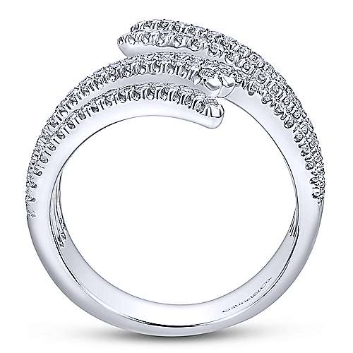 14k White Gold Lusso Diamond Fashion Ladies' Ring angle 2