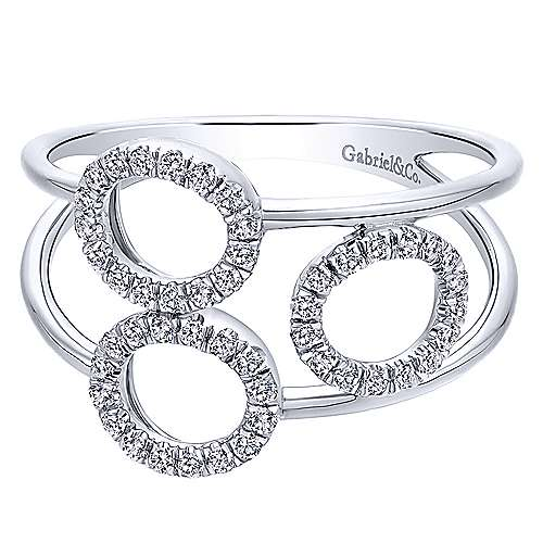 Gabriel - 14k White Gold Lusso Diamond Fashion Ladies' Ring