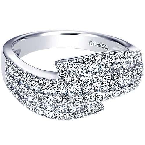 Gabriel - 14k White Gold Lusso Diamond Fashion Ladies' Ring