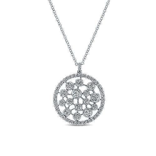 14k White Gold Lusso Diamond Fashion Necklace angle 1