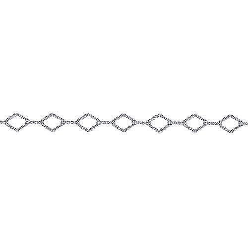 14k White Gold Lusso Diamond Tennis Bracelet angle 2