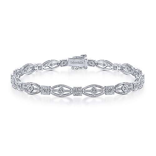 14k White Gold Lusso Diamond Tennis Bracelet angle 1
