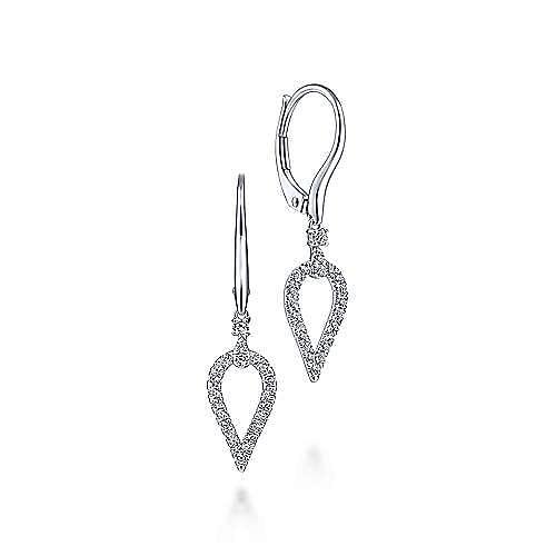 14k White Gold Lusso Drop Earrings