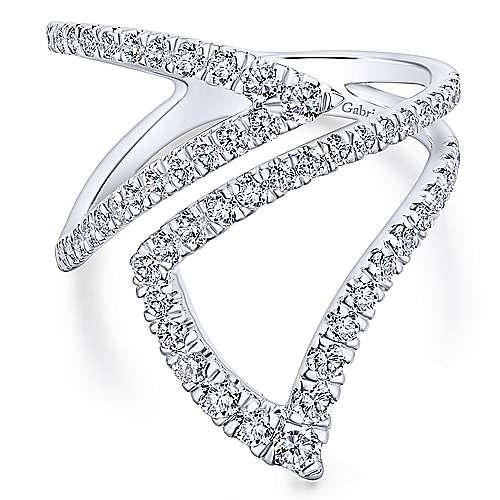 Gabriel - 14k White Gold Lusso Fashion Ladies' Ring