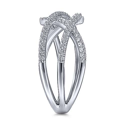 14k White Gold Lusso Fashion Ladies Ring
