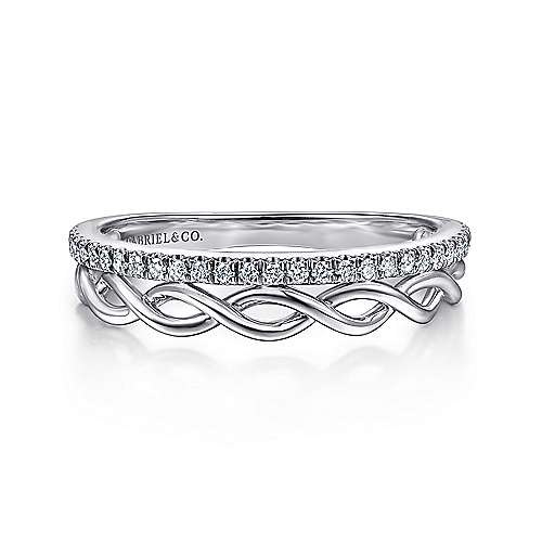 Gabriel - 14k White Gold Lusso Fashion Ladies Ring