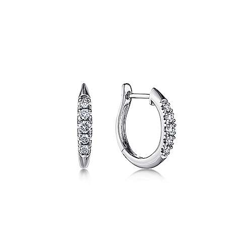 Gabriel - 14k White Gold Lusso Huggie Earrings