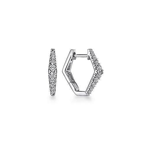 14k White Gold Lusso Huggie Earrings