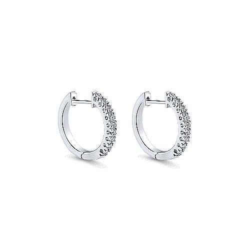 Gabriel - 14k White Gold Lusso Huggie Earrings