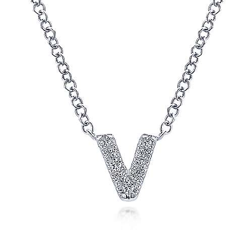 Gabriel - 14k White Gold Lusso Initial Necklace