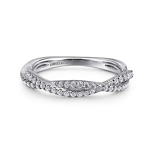 Gabriel - 14k White Gold Lusso Stackable Ladies Ring