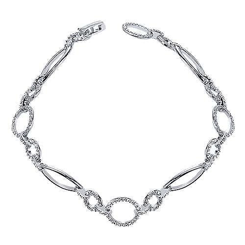 Gabriel - 14k White Gold Lusso Tennis Bracelet
